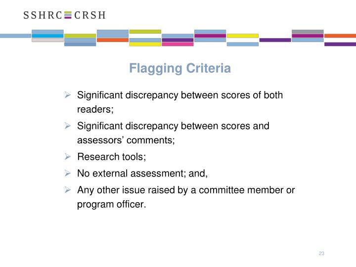 Flagging Criteria