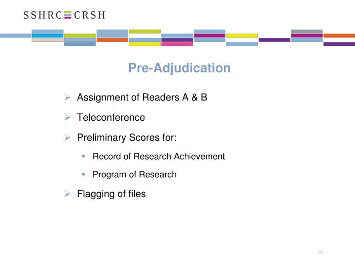 Pre-Adjudication