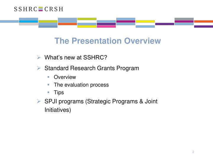 The Presentation Overview