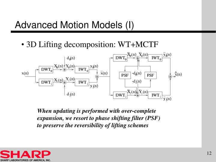 Advanced Motion Models (I)