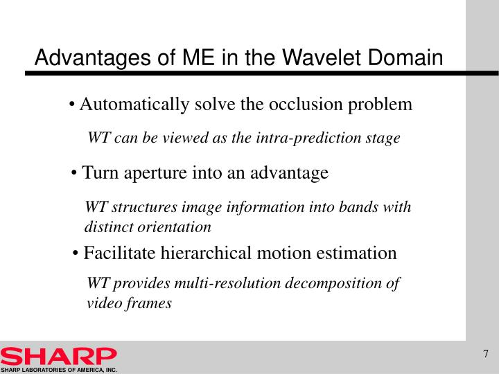 Advantages of ME in the Wavelet Domain