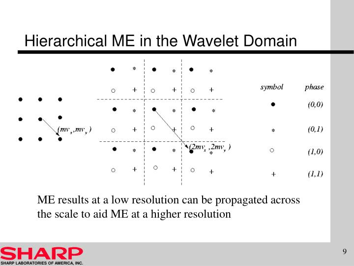 Hierarchical ME in the Wavelet Domain
