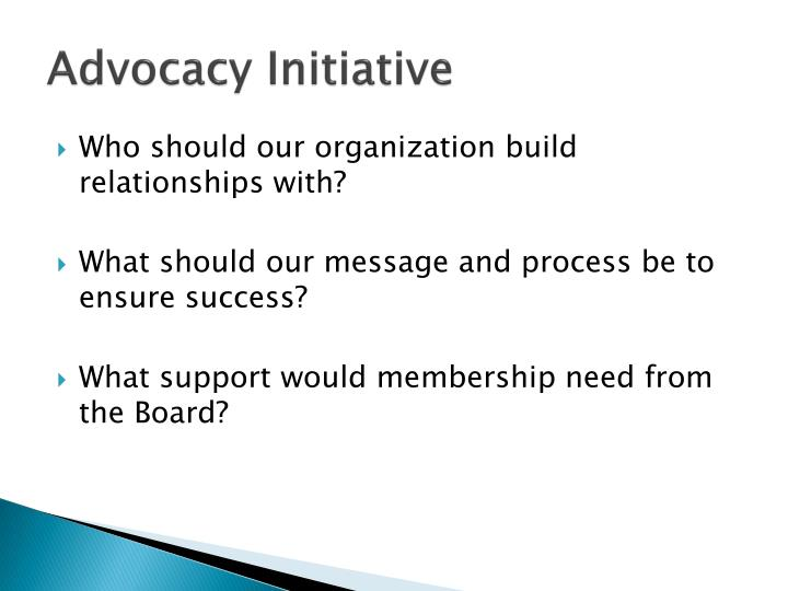 Advocacy Initiative