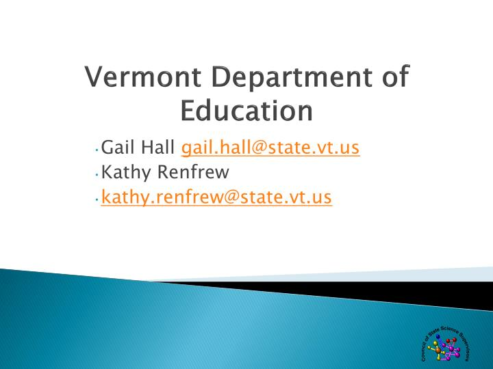 Vermont Department of Education