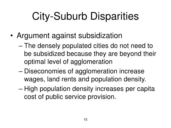 City-Suburb Disparities