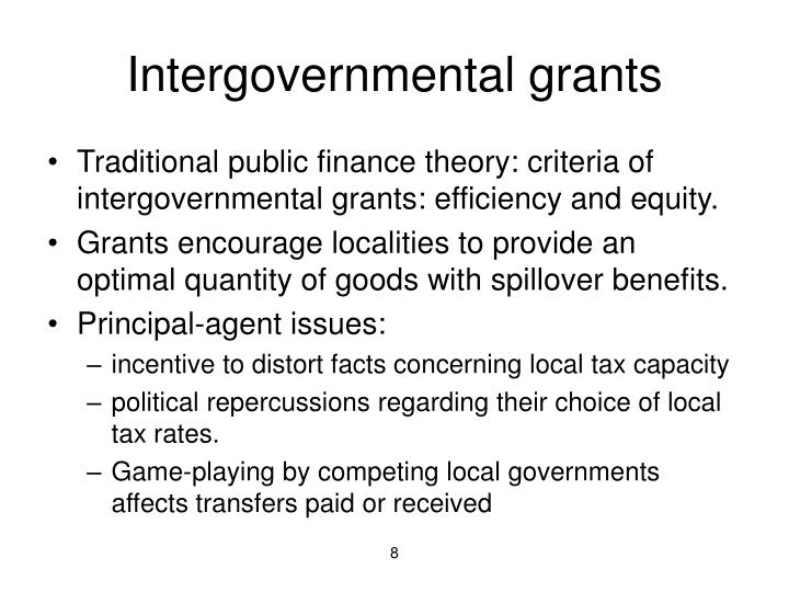 Intergovernmental grants
