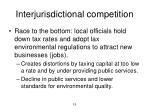 interjurisdictional competition1