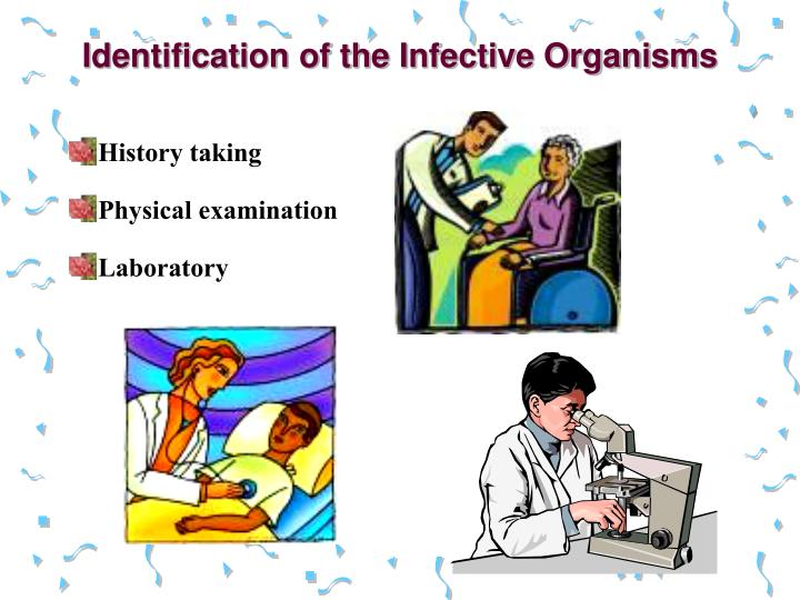 Identification of the infective organisms