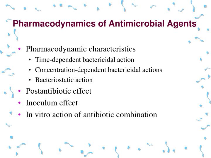 Pharmacodynamics of Antimicrobial Agents
