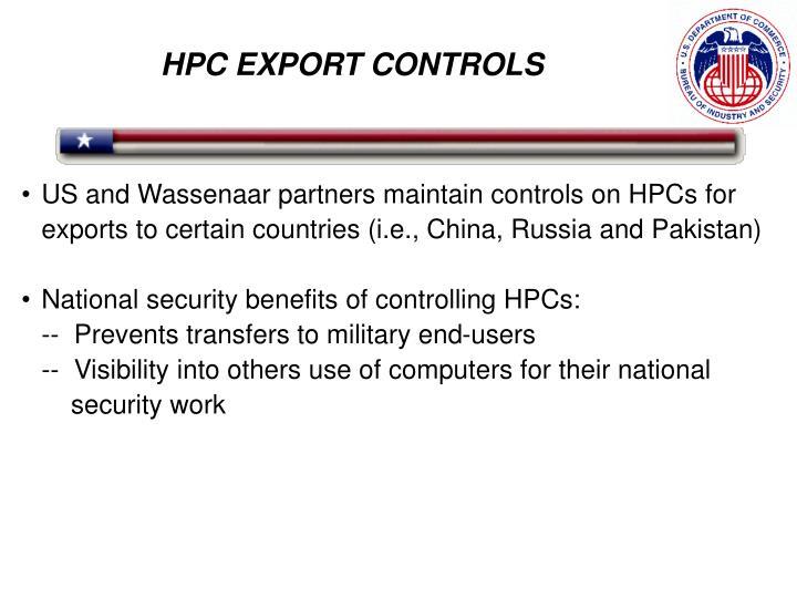 HPC EXPORT CONTROLS