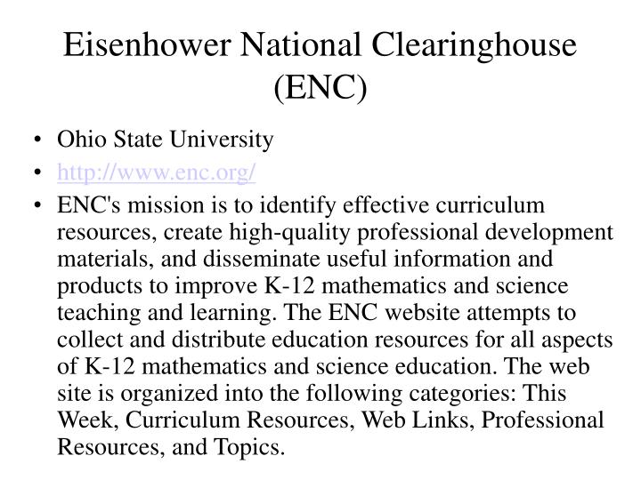 Eisenhower National Clearinghouse (ENC)