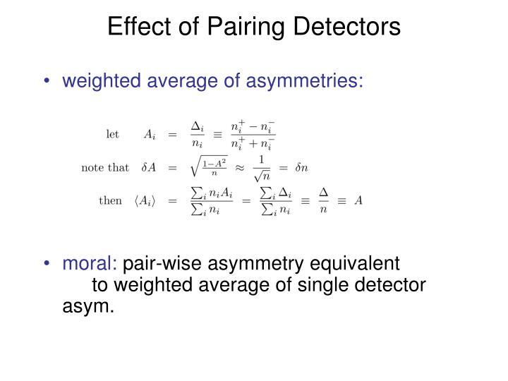 Effect of Pairing Detectors
