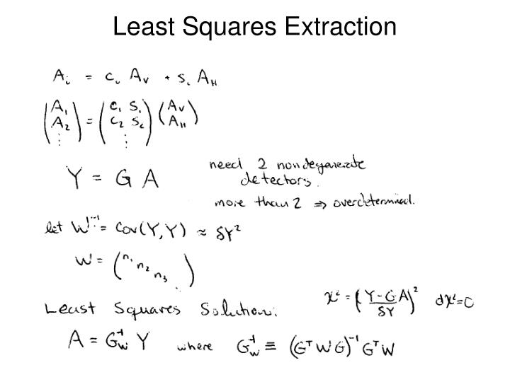 Least Squares Extraction