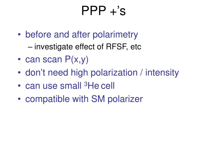 PPP +'s