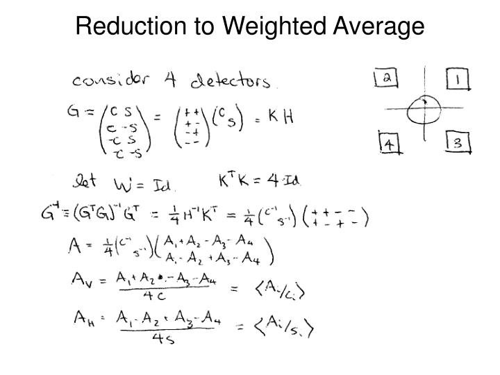 Reduction to Weighted Average