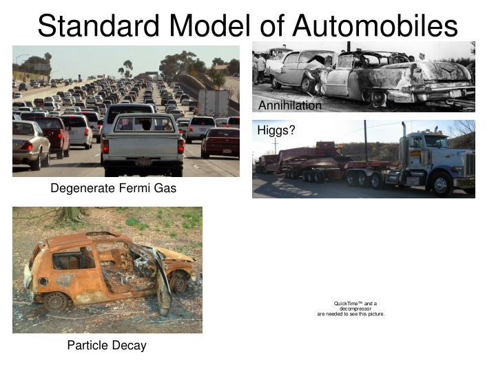 Standard Model of Automobiles