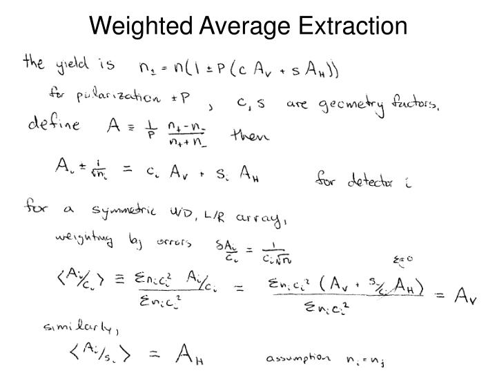 Weighted Average Extraction