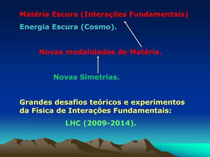 Matéria Escura (Interações Fundamentais)