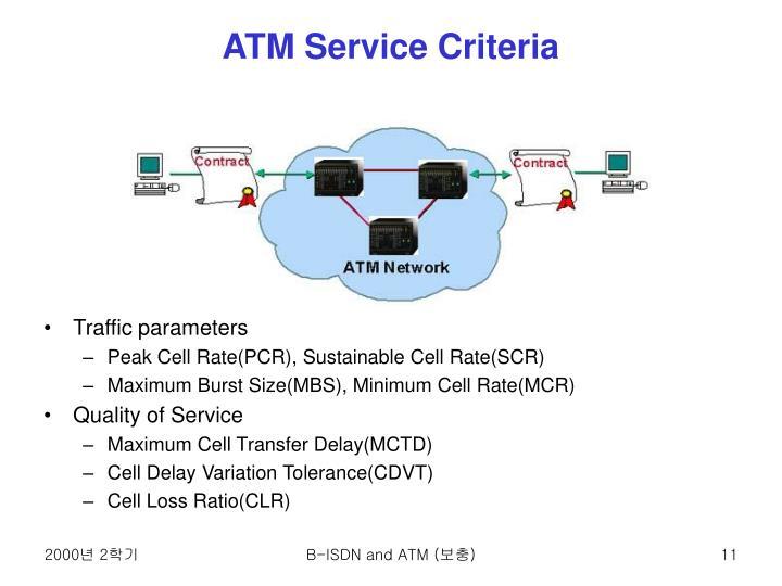 ATM Service Criteria