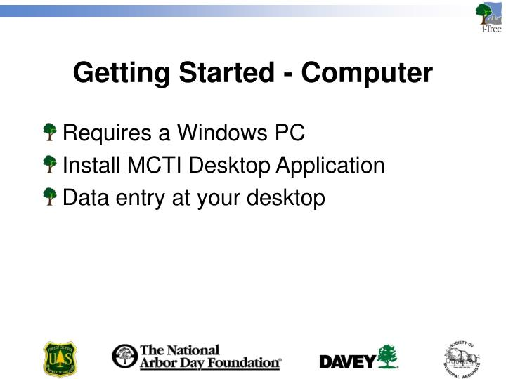 Getting Started - Computer