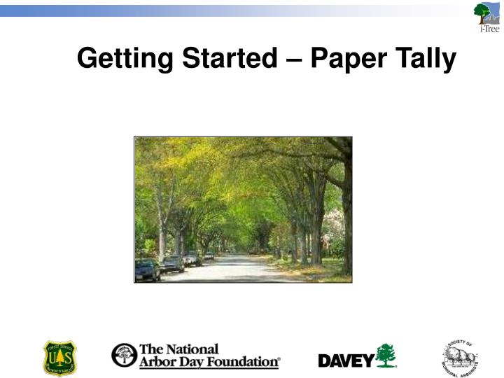Getting Started – Paper Tally