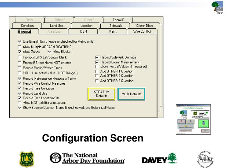 Configuration Screen
