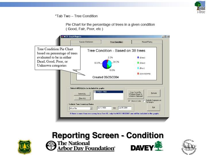 Reporting Screen - Condition