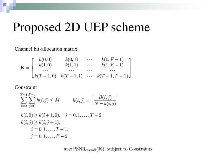 Proposed 2D UEP scheme