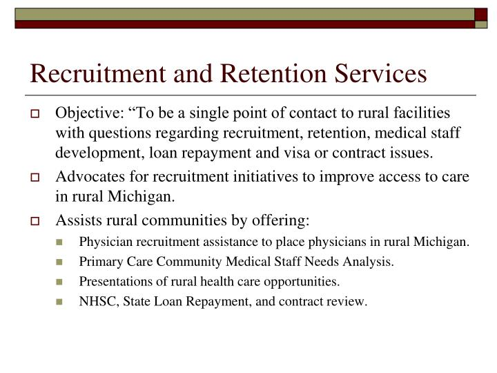 Recruitment and Retention Services