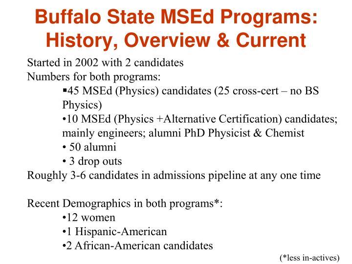 Buffalo State MSEd Programs: