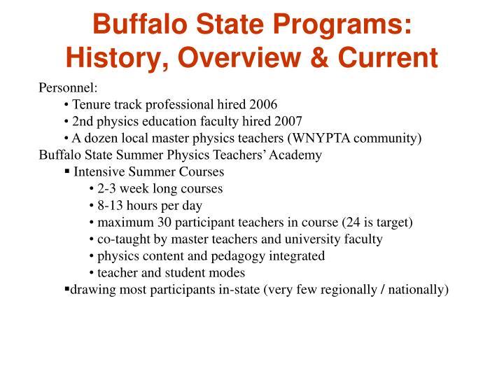 Buffalo State Programs: