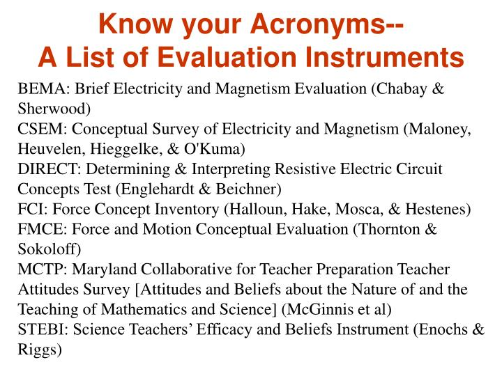 Know your Acronyms--