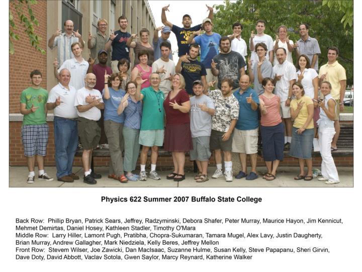 Physics 622- Summer 2005 Participants and Instructors