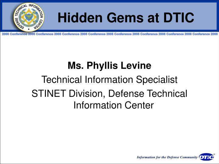 Hidden Gems at DTIC