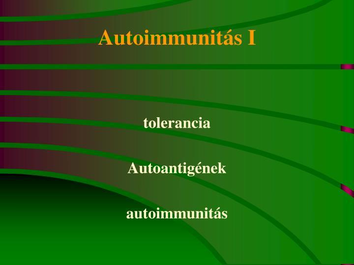 Autoimmunitás I