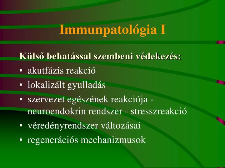 Immunpatológia I
