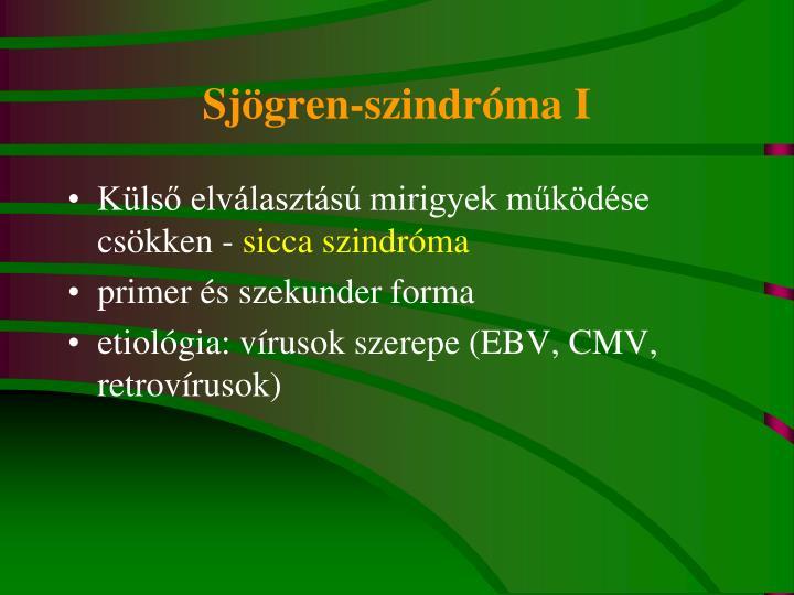 Sjögren-szindróma I
