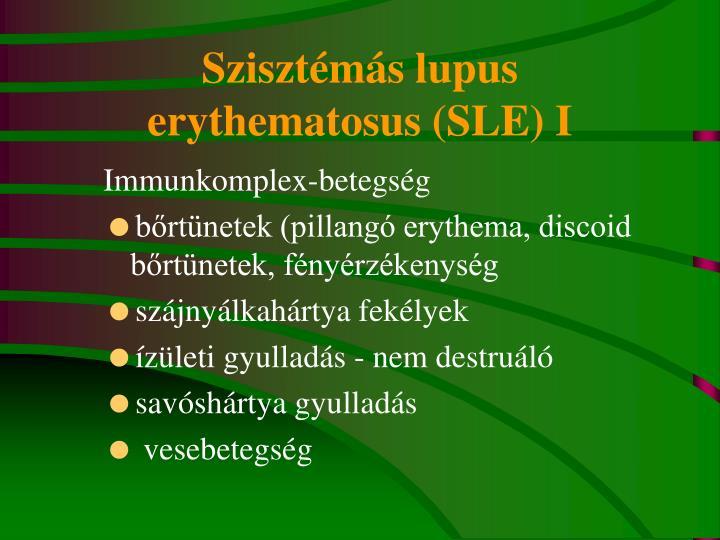 Szisztémás lupus erythematosus (SLE) I