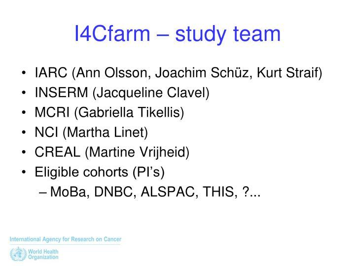 I4Cfarm – study team