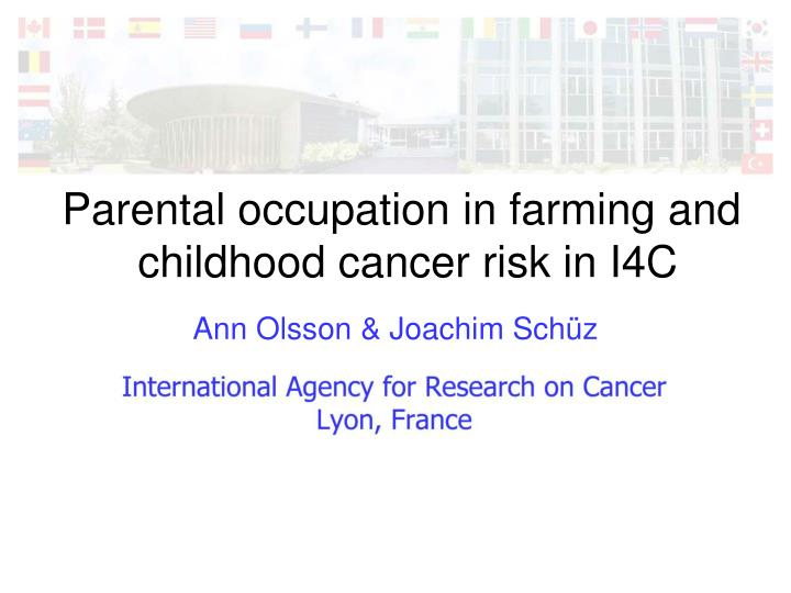 Parental occupation in farming and