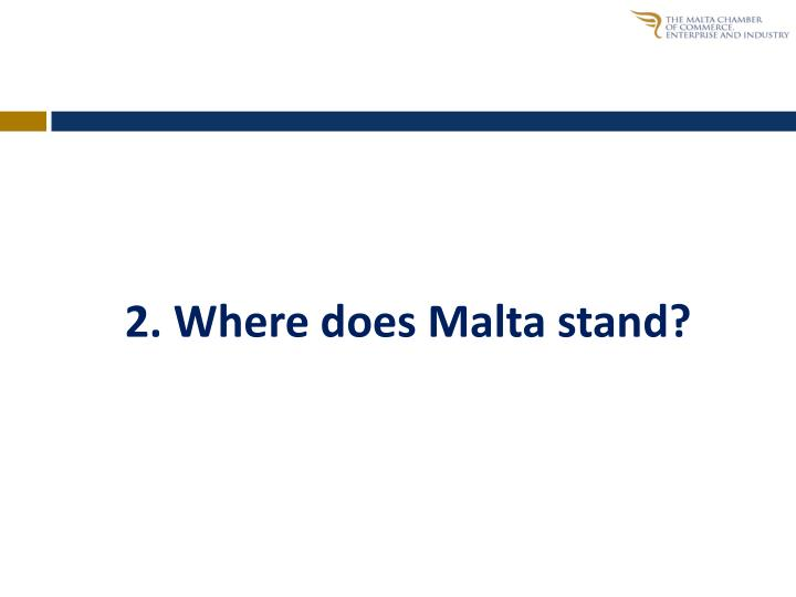 2. Where does Malta stand?