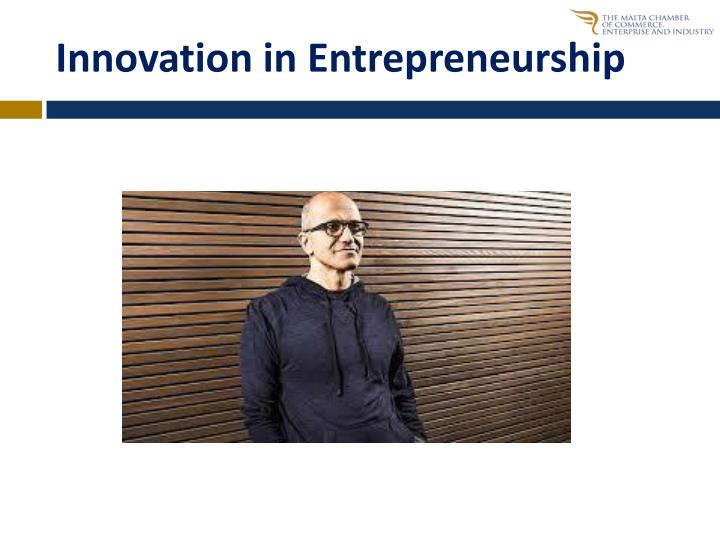 Innovation in Entrepreneurship
