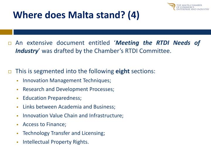 Where does Malta stand? (4)