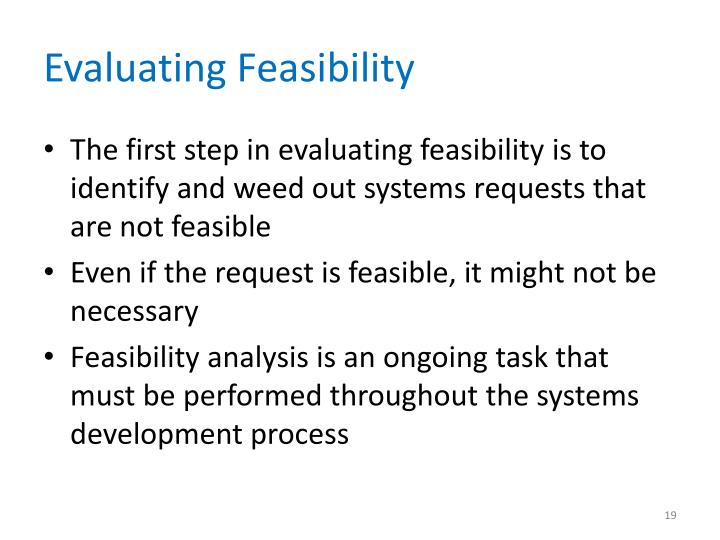 Evaluating Feasibility