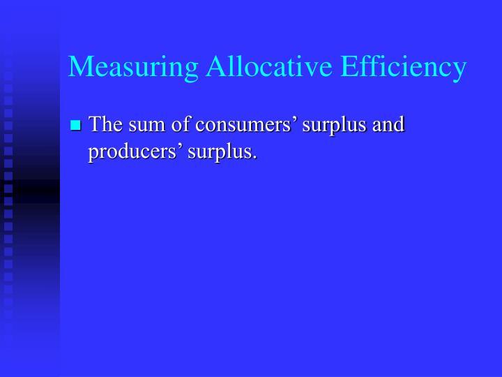 Measuring Allocative Efficiency