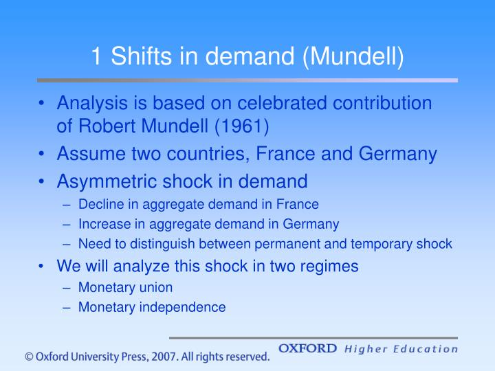 1 Shifts in demand (Mundell)