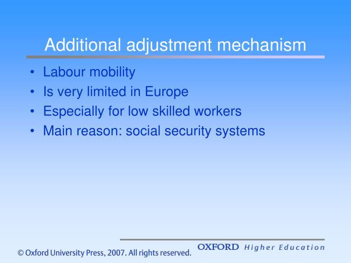 Additional adjustment mechanism