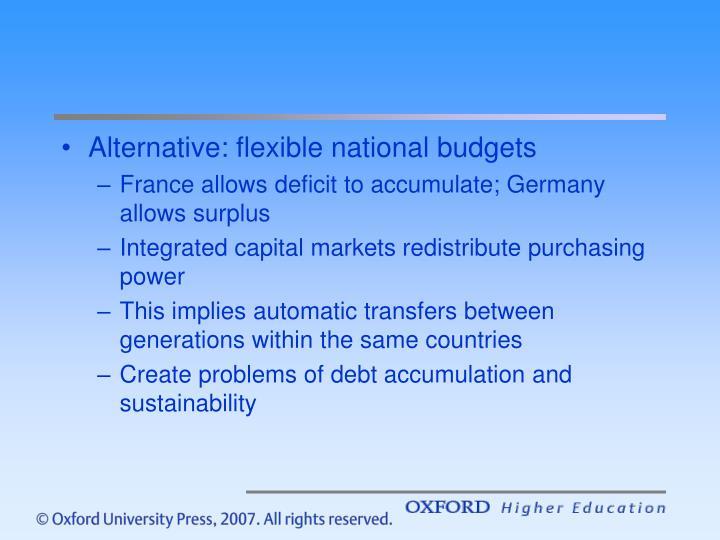 Alternative: flexible national budgets
