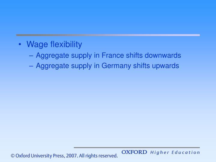 Wage flexibility