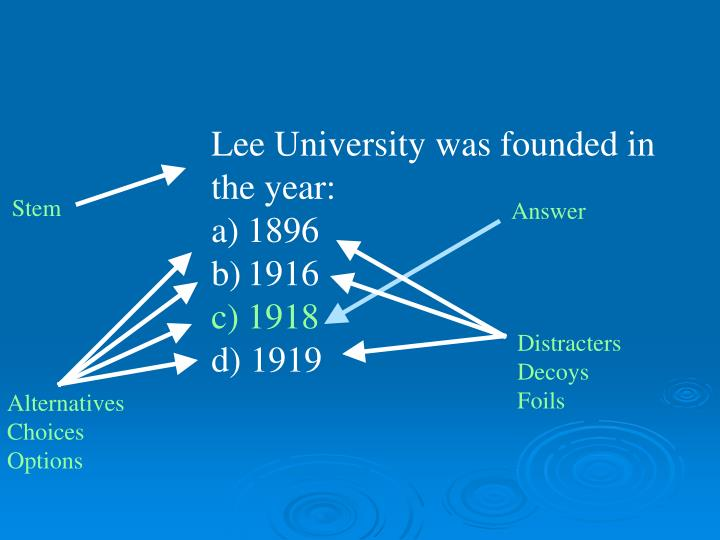 Lee University was founded in the year: